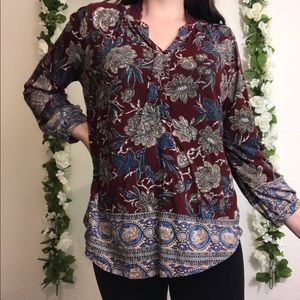 Lucky Brand Tops - Lucky Brand Boho Peasant Blouse Size Small